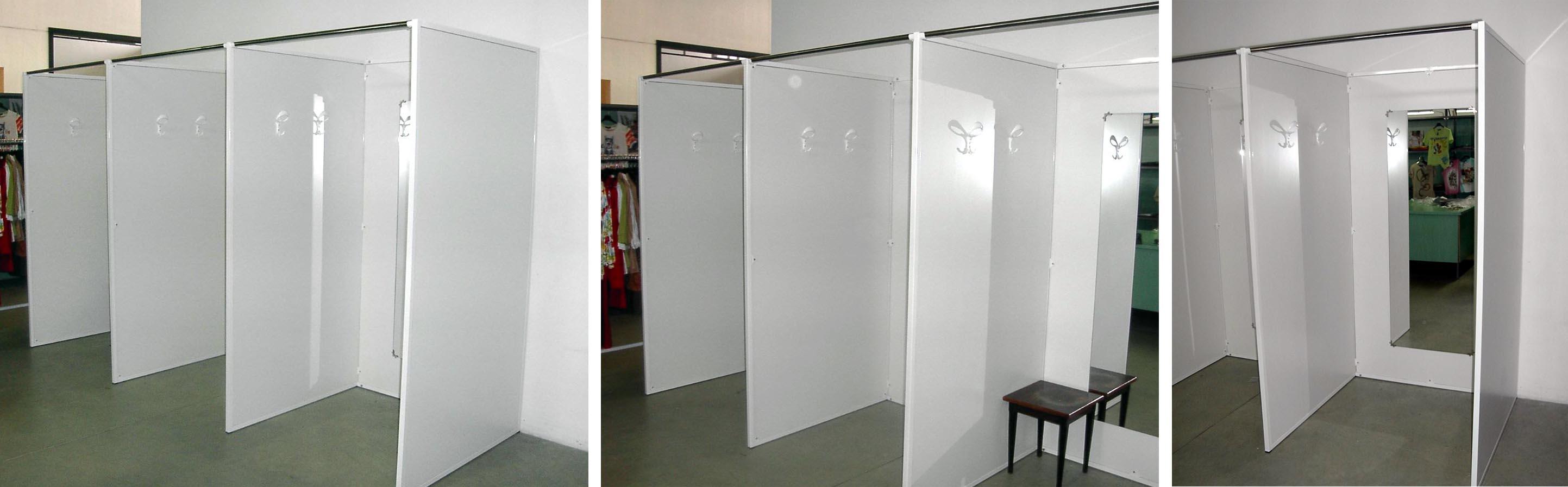 Arredamento negozi fornitura camerini prova produzione for Negozio di metallo con appartamento