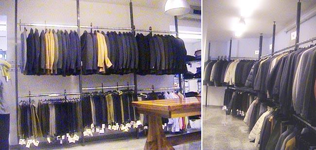 produzione vendita stender per abbigliamento dm carpi modena - Arredamento Negozio Abbigliamento Moderno