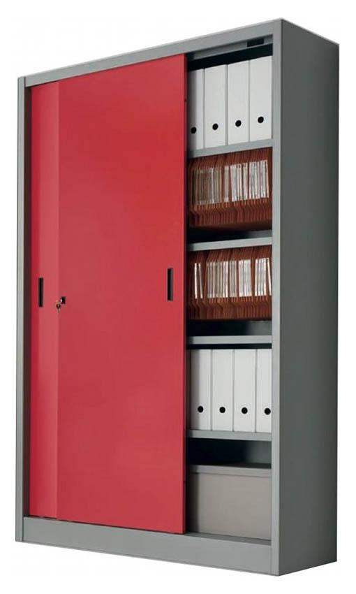 Produzione armadi metallici per archivi con ante scorrevoli e scaffali