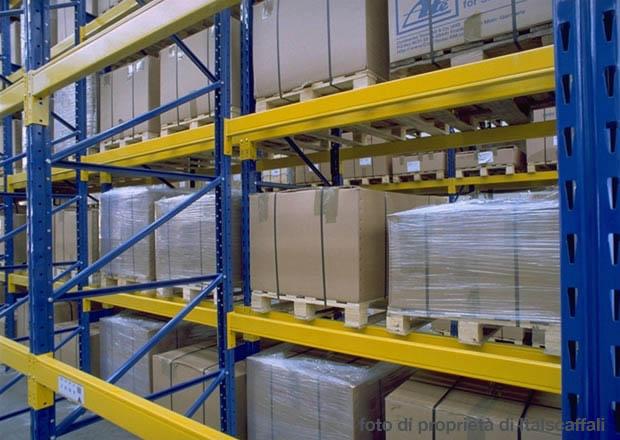 Scaffali Industriali Portapallet.Produzione Vendita Montaggio Scaffalature Porta Pallets A Norma