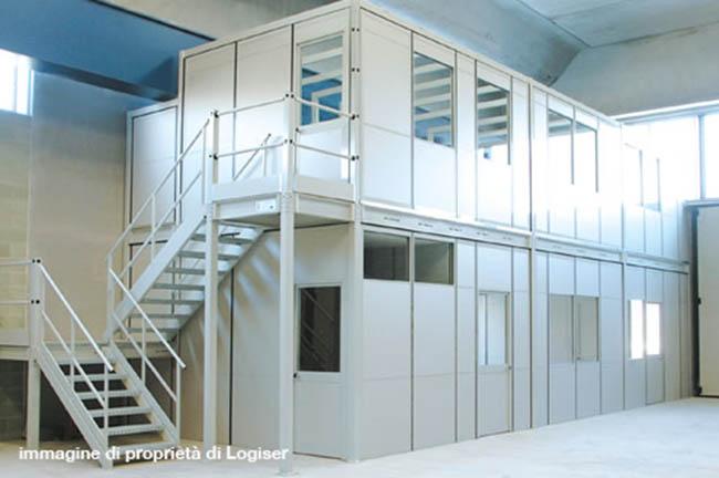 Progettazione produzione e montaggio soppalchi attrezzati for Piani di capannone per uffici esterni