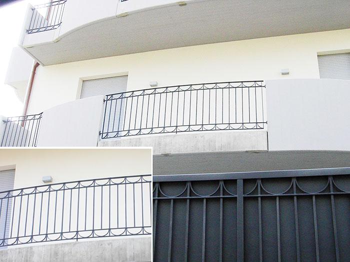 Ringhiere Per Balconi. Ringhiera Con Attacco A Pavimento Per Interni ...