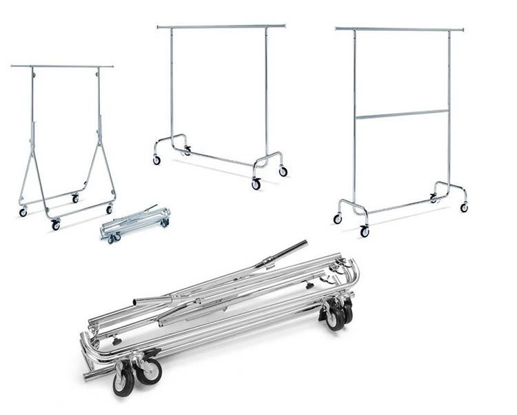 Produzione e vendita stender pieghevoli da abbigliamento - Porta abiti con ruote ...