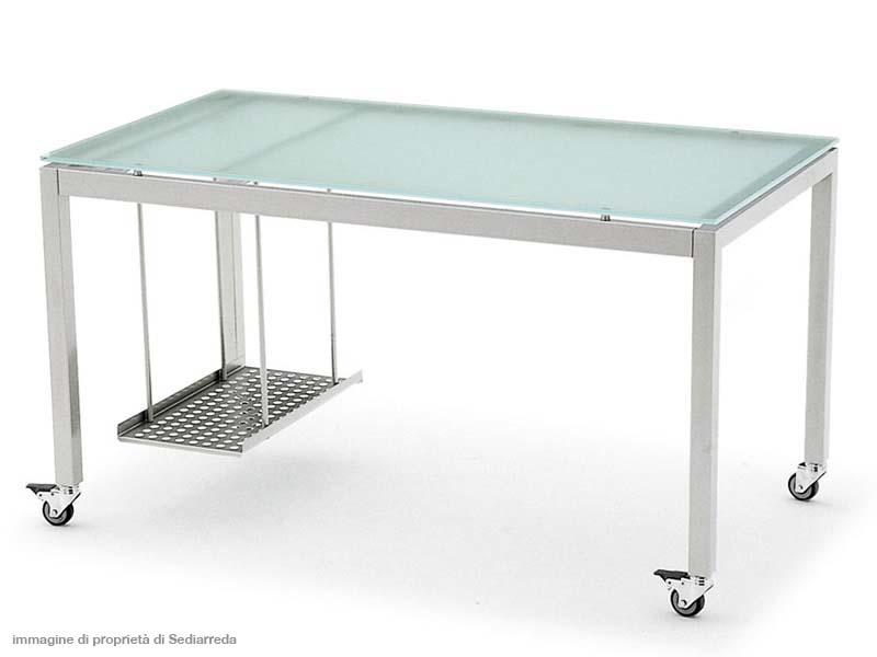 Produzione e vendita scrivanie ergonomiche con cassettiere intubolare per uffici dm carpi modena - Scrivania ufficio vetro ...
